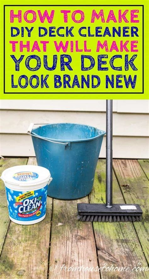 Diy Wood Deck Cleaning Solution