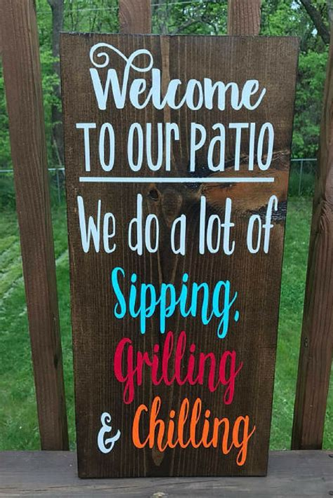 Diy Wood Deck Signs