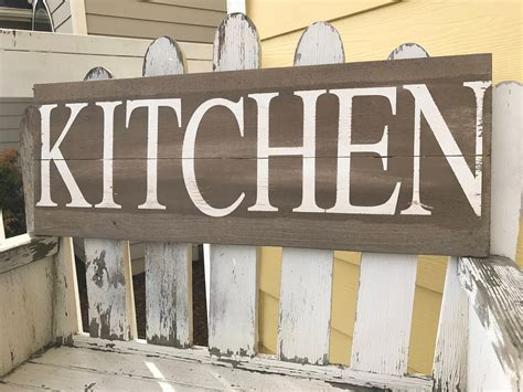 Diy Wood Decor Sign Contemporary Kitchen