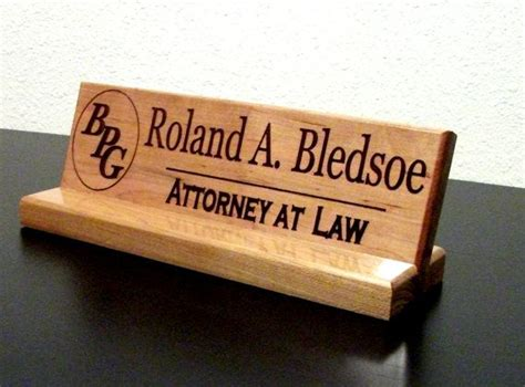 Diy Wood Desk Name Plate