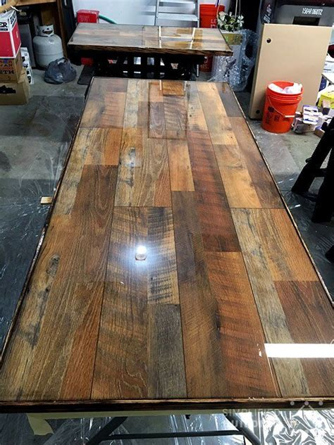 Diy Wood Desk Top With Laminant