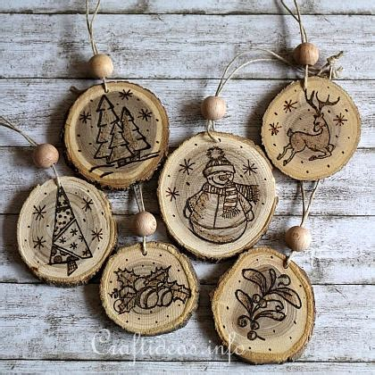Diy Wood Discs Ornaments
