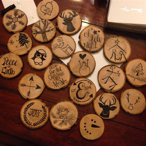 Diy Wood Disk Ornaments