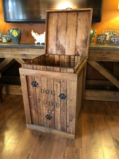 Diy Wood Dog Food Container