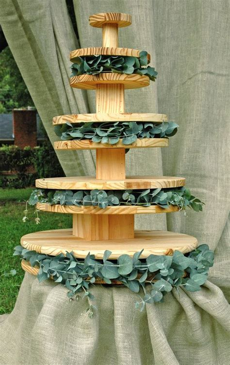 Diy Wood Donut Stand With Cake