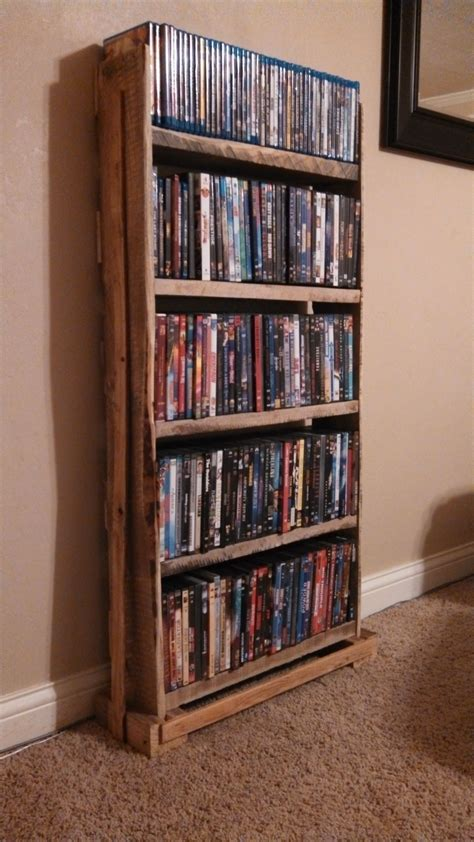 Diy Wood Dvd Shelf