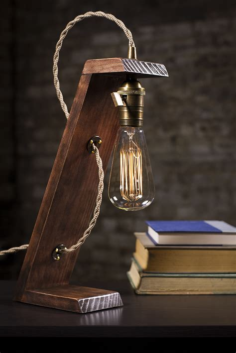 Diy Wood Edison Lamp