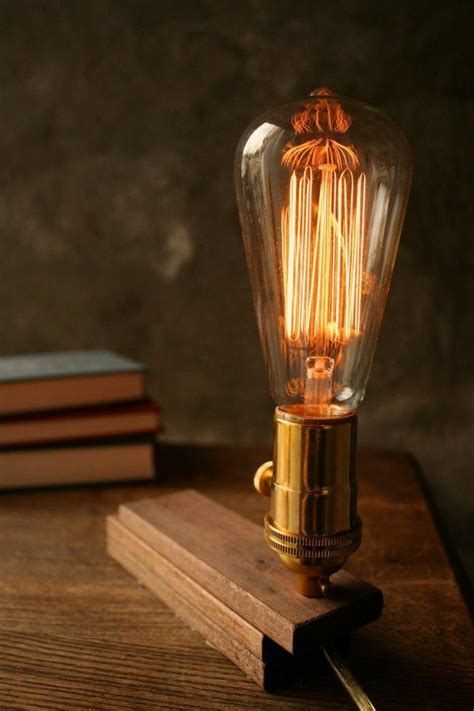 Diy Wood Edison Lamp Industrial