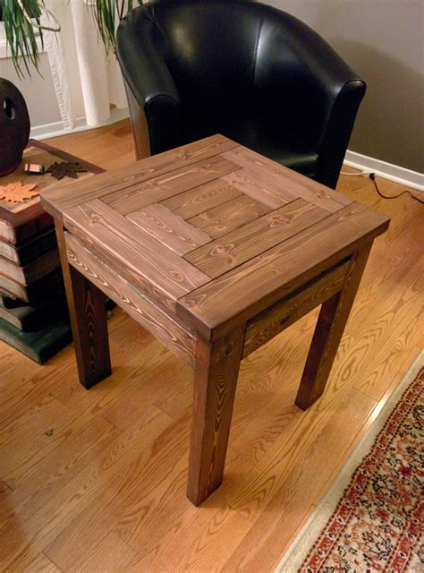 Diy Wood End Tables