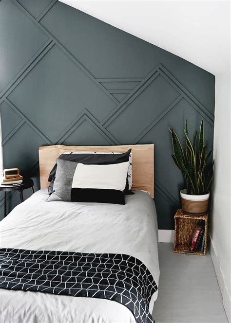 Diy Wood Feature Wall In Master Bedroom