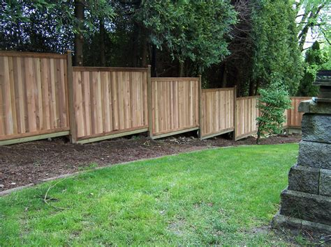 Diy Wood Fence On A Slope