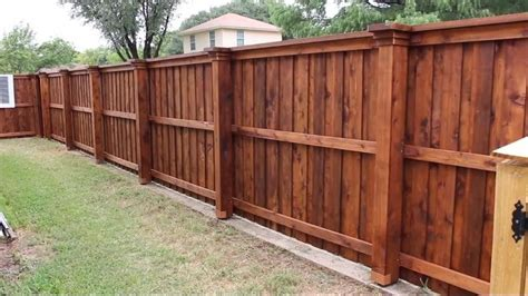 Diy Wood Fence Staining