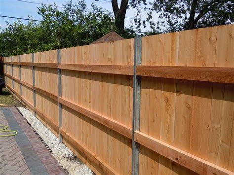 Diy Wood Fence With Metal Posts