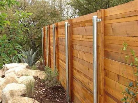 Diy Wood Fense Metal Post