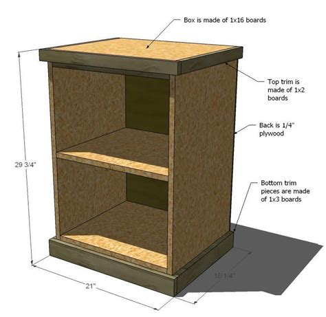 Diy Wood Filing Cabinet Plans