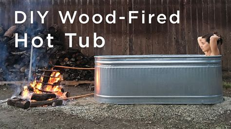 Diy Wood Fired Hot Tub Stock Tank
