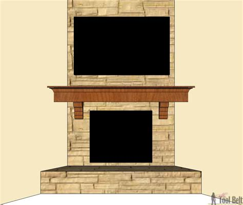 Diy Wood Fireplace Mantel Shelf