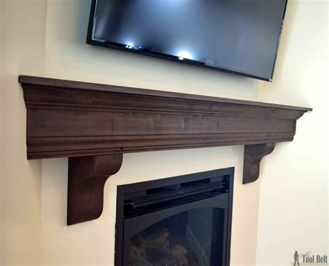Diy Wood Fireplace Mantel Shelves