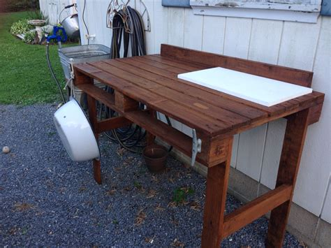 Diy Wood Fish Cleaning Table
