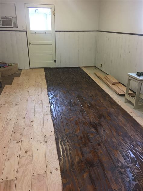 Diy Wood Flooring With Plywood Furniture