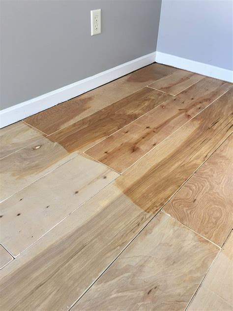 Diy Wood Flooring With Plywood Sheets