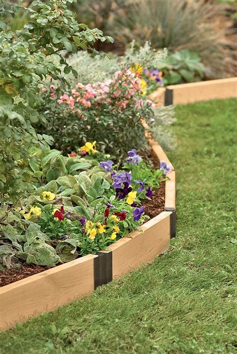 Diy Wood Flower Bed Edging Easy Banana