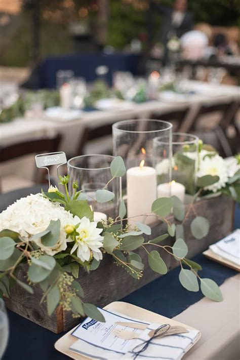 Diy Wood Flower Box Centerpiece Wedding