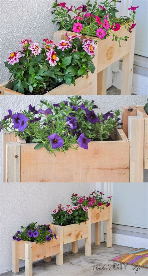 Diy Wood Flower Planter