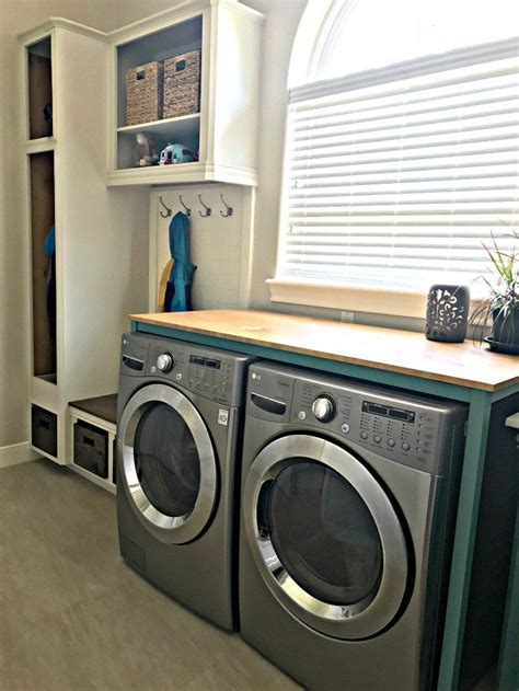 Diy Wood Folding Table Over Washer And Dryer