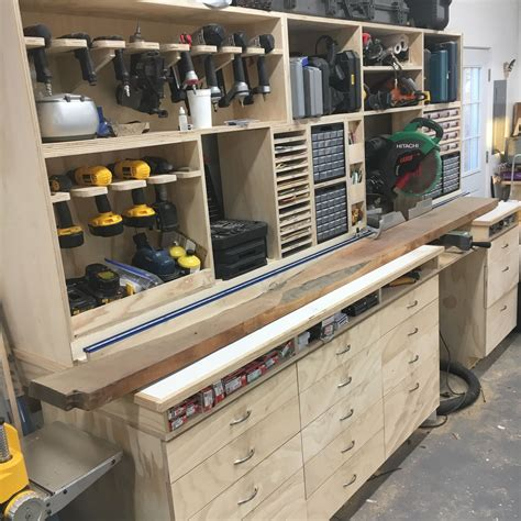 Diy Wood For Garage Countertops And Cabinets