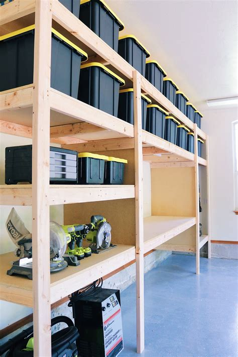 Diy Wood Garage Shelving Plans