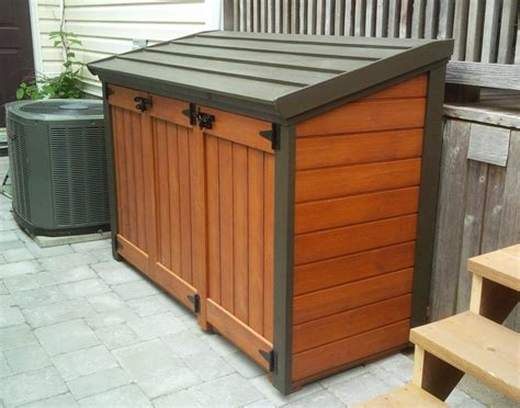 Diy Wood Garbage Can Shed