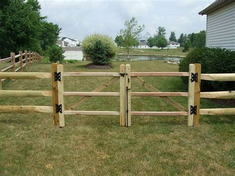 Diy Wood Gate For Split Rail