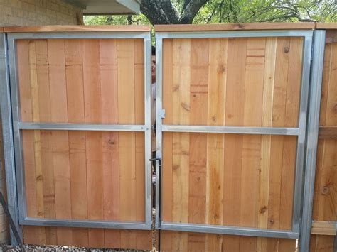 Diy Wood Gate With Metal Frame