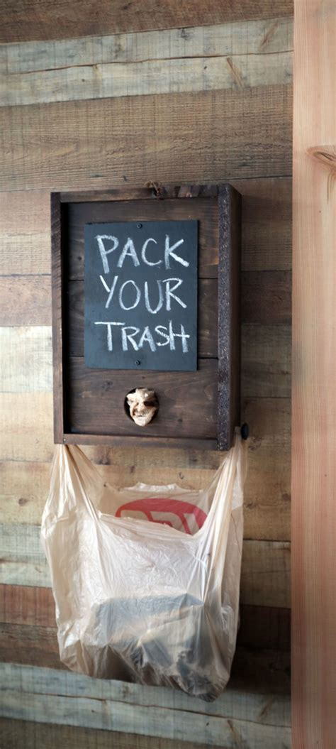 Diy Wood Grocery Bag Dispenser