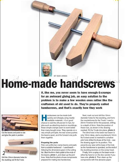 Diy Wood Hand Screw Clamps