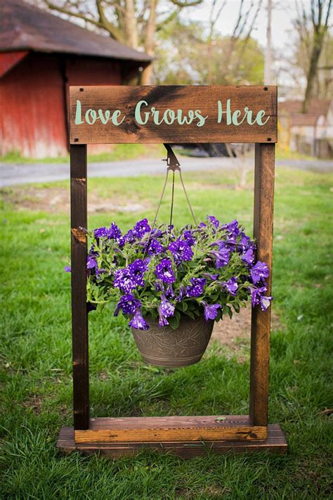 Diy Wood Hanging Basket Stand