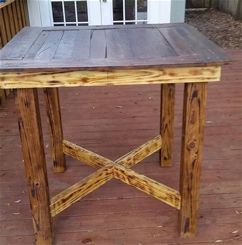 Diy Wood High Top Table