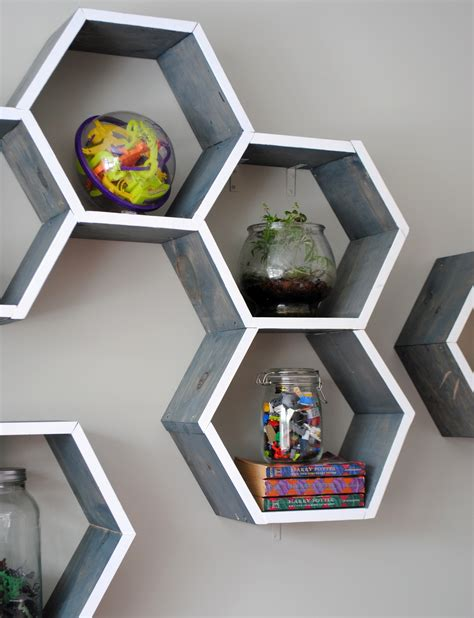 Diy Wood Honeycomb Shelves