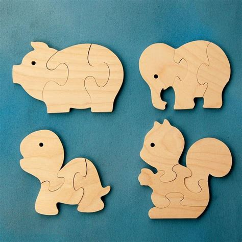 Diy Wood Jigsaw Animal Puzzle