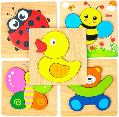 Diy Wood Jigsaw Animal Puzzle Toddlers Clothing