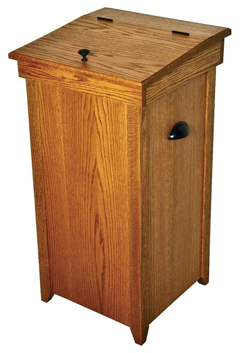 Diy Wood Kitchen Trash Can