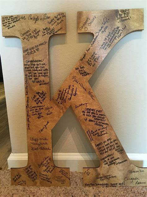 Diy Wood Letter Guest Book
