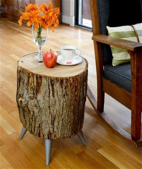 Diy Wood Log Table Top