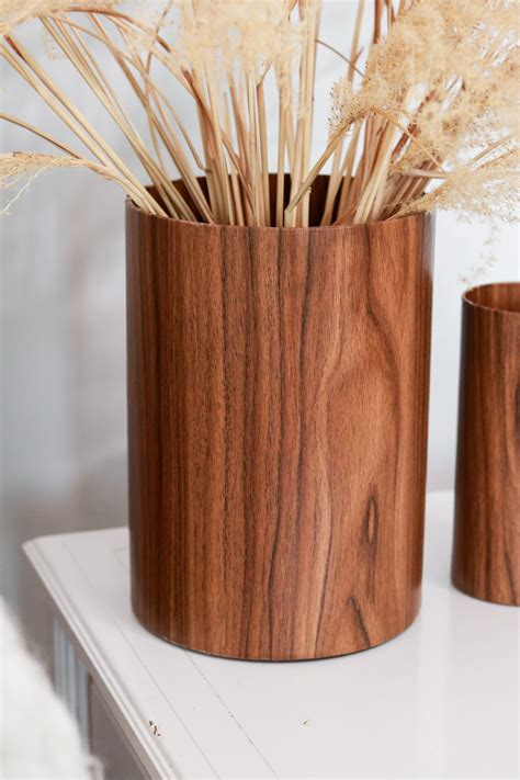 Diy Wood Log Vases