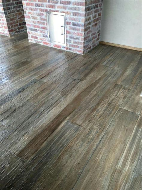Diy Wood Look Concrete Floor