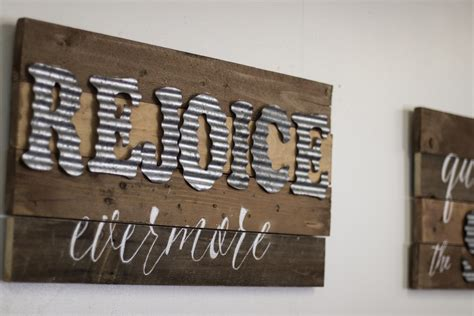 Diy Wood Look Metal Signs