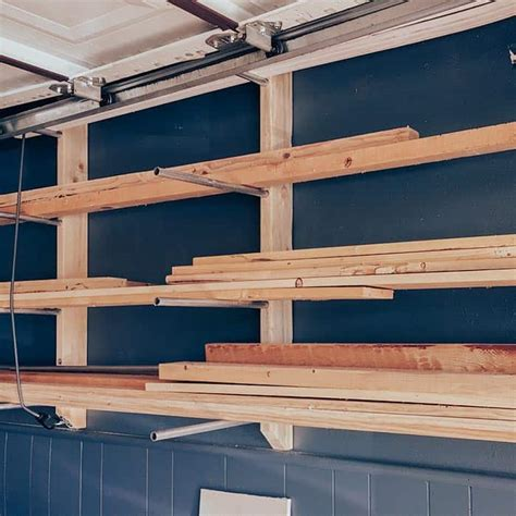 Diy Wood Lumber Storage Rack