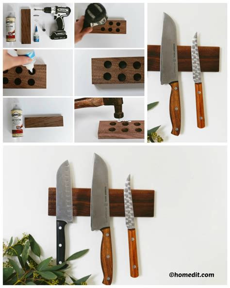 Diy Wood Magnetic Knife Block