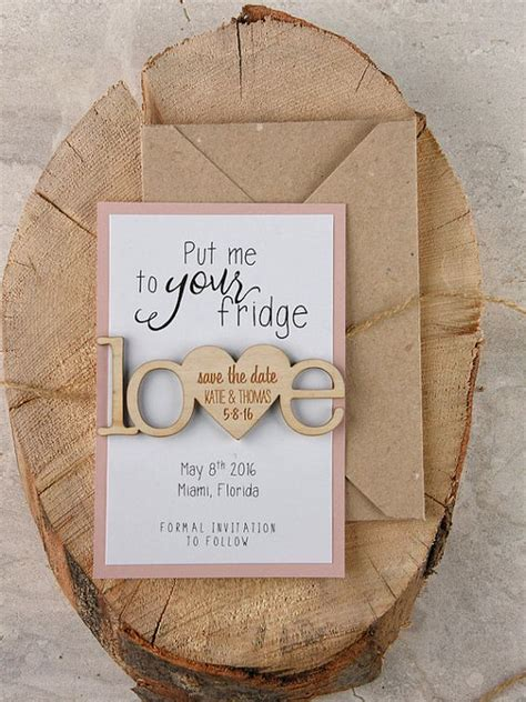 Diy Wood Magnets Save The Date